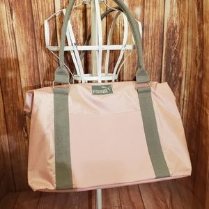 Puma Pink Bag with Zipper Closure NWOT